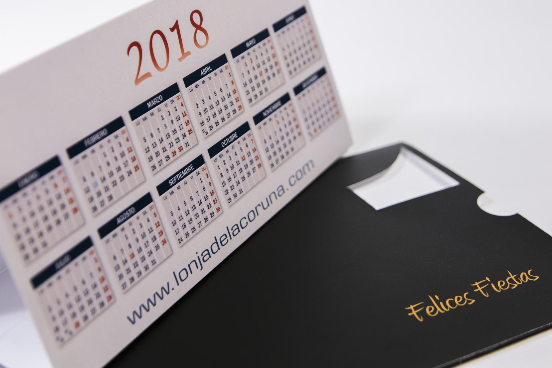 Calendario plegable a todo color
