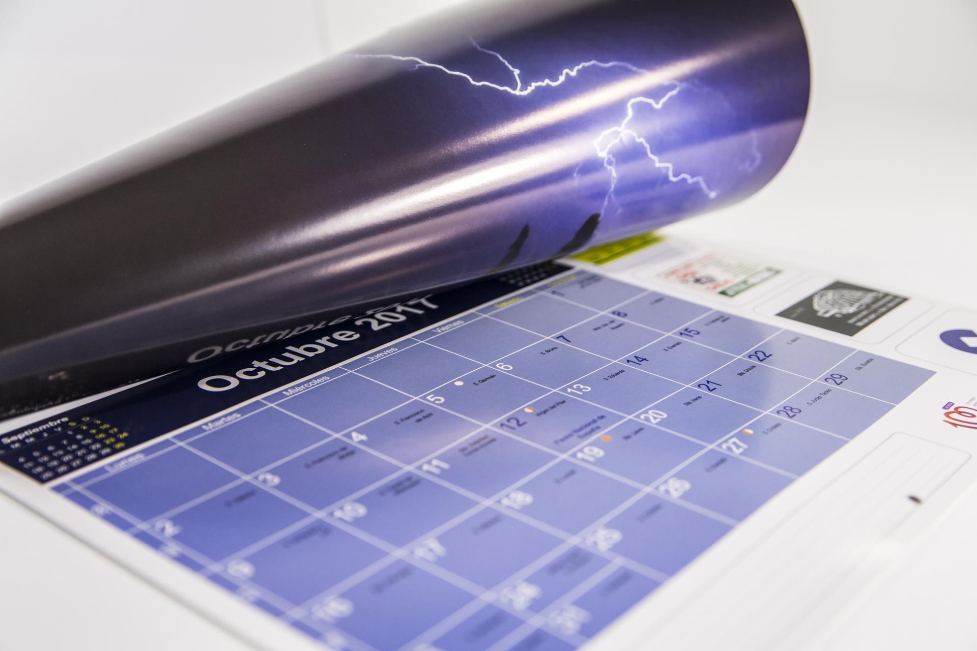 Impresion offset de calendario