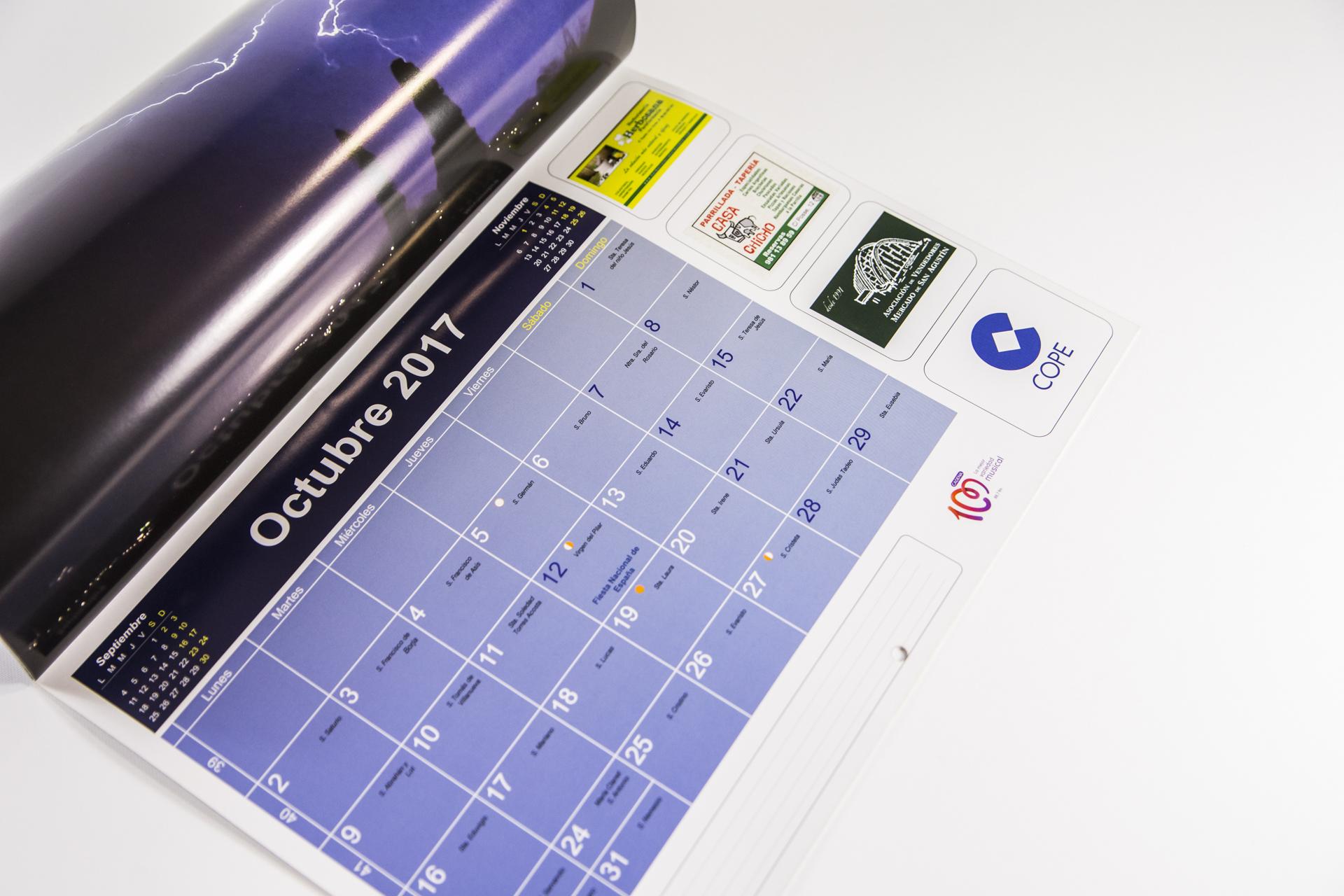 calendario en imprenta a coruña