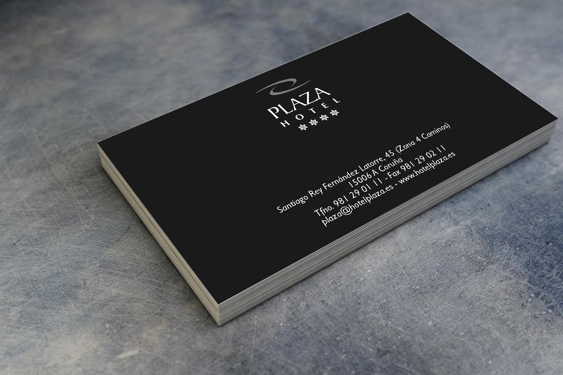 tarjetas de visita corporativas para hoteles